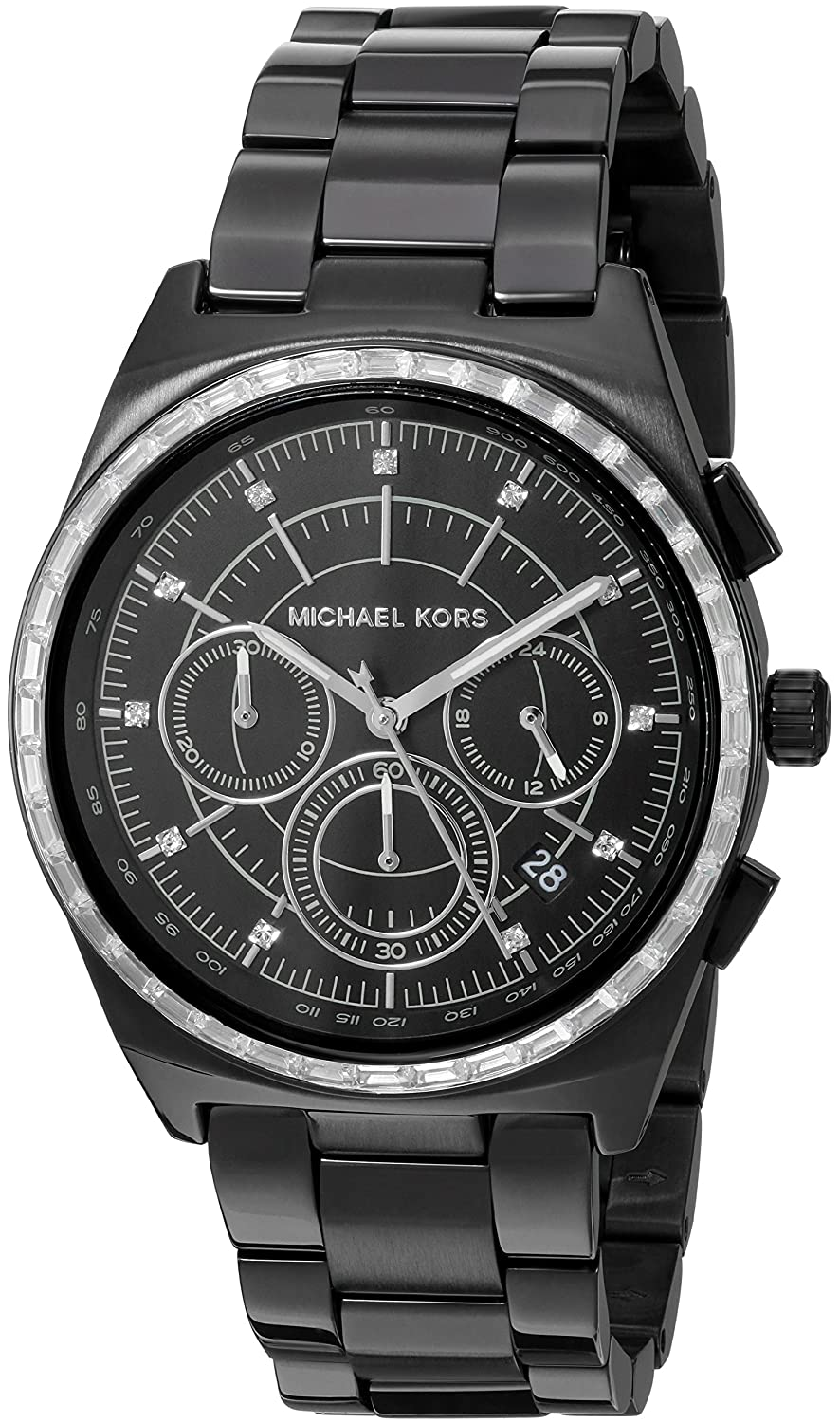 f7c007ff5a08 Amazon.com  Michael Kors Women s Vail Black Watch MK6423  Watches
