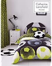 Catherine Lansfield Neon Football Easy Care  Yellow