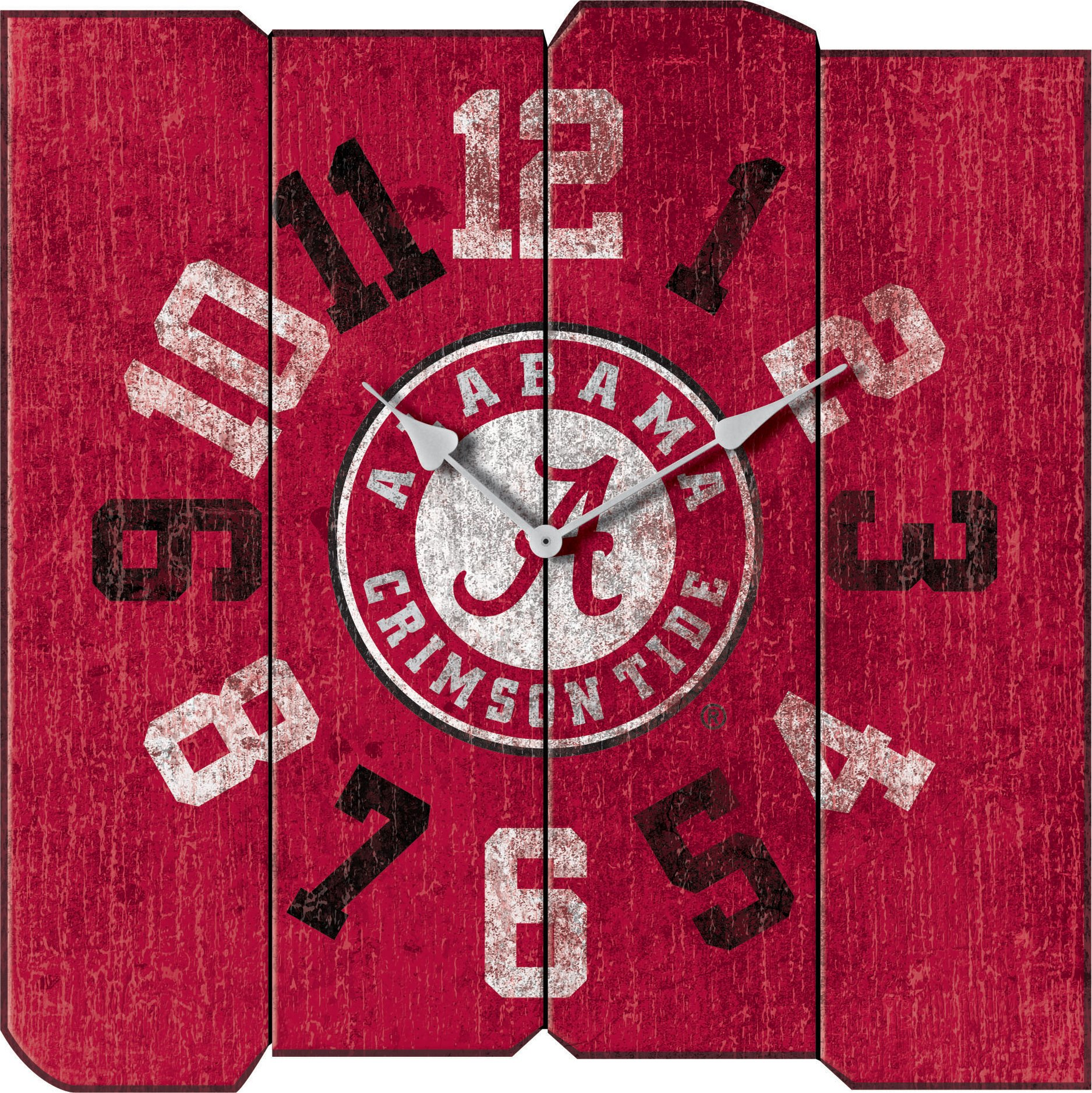 Imperial Officially Licensed NCAA Merchandise: Vintage Square Clock, Alabama Crimson Tide by Imperial