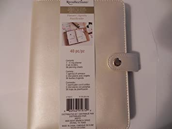 Recollections Creative Year Planner, 40 piece - Ivory