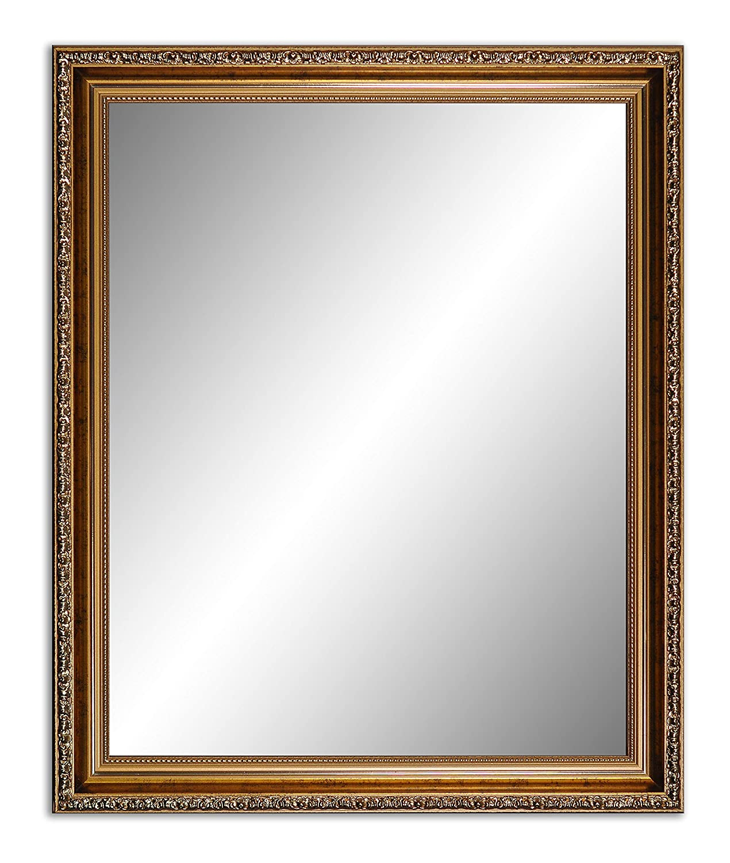 100 x 80 cm (97 x 77 77 77 cm), Antik Spiegel, Alte Spiegel, Stabiler Rückwand, Rahmen Farbe  Silber - Gold 73ac6d