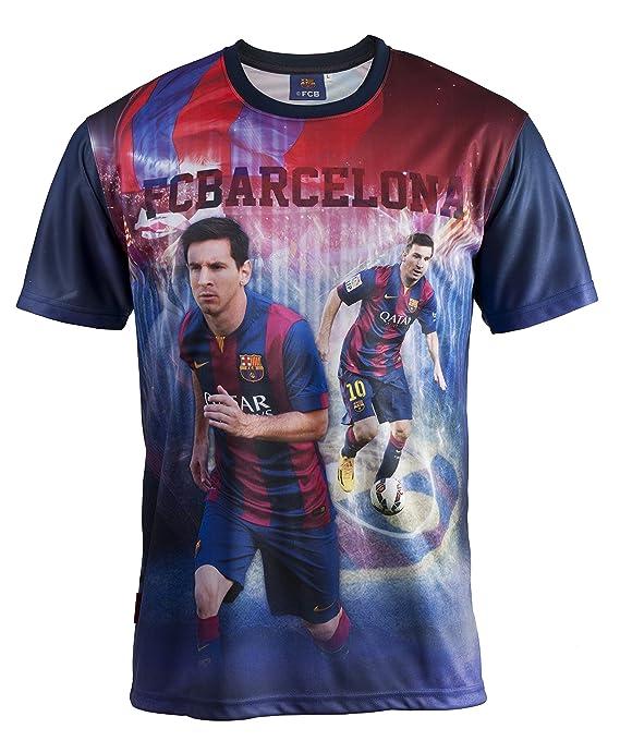 Conjunto camiseta + Short FC Barcelona - Lionel Messi - Colección oficial  FC Barcelona - Talla de Niño Azul azul Talla 14 años  Amazon.es  Deportes y  aire ... fff031a8c76