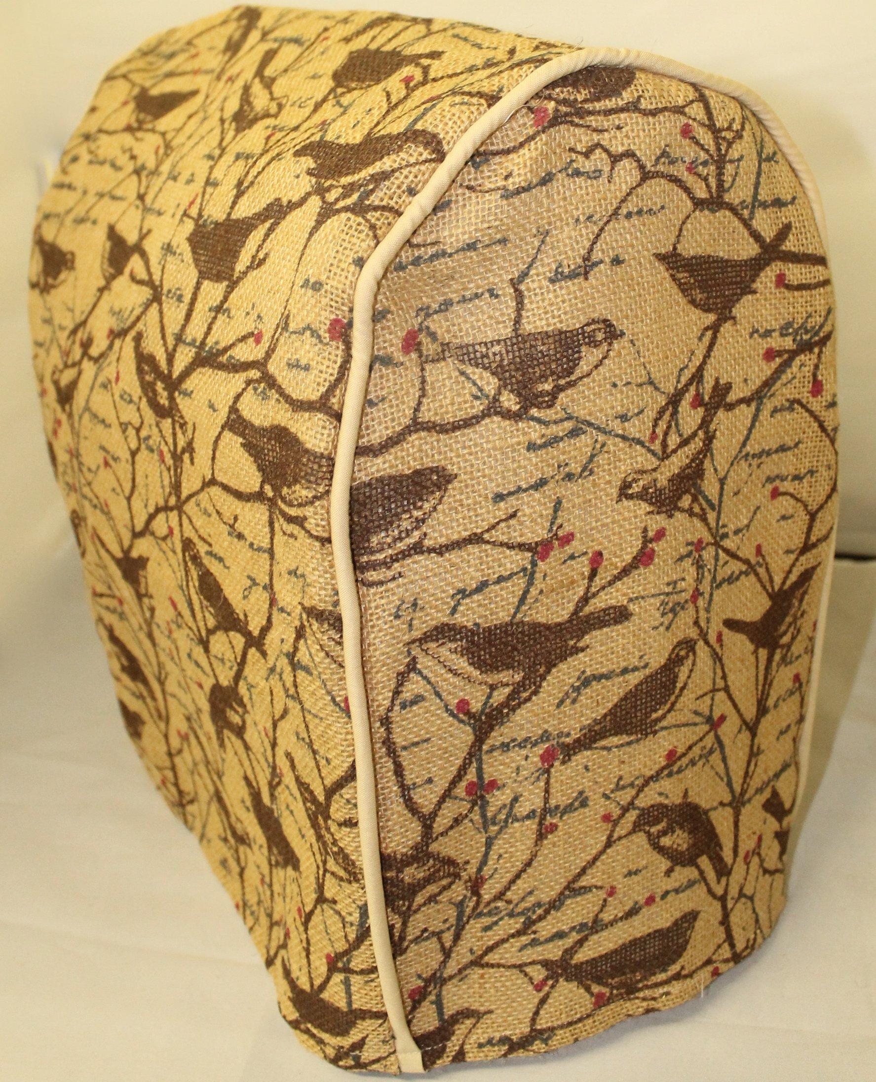 Tilt Head KitchenAid Cover, Burlap/Bark and Swallow