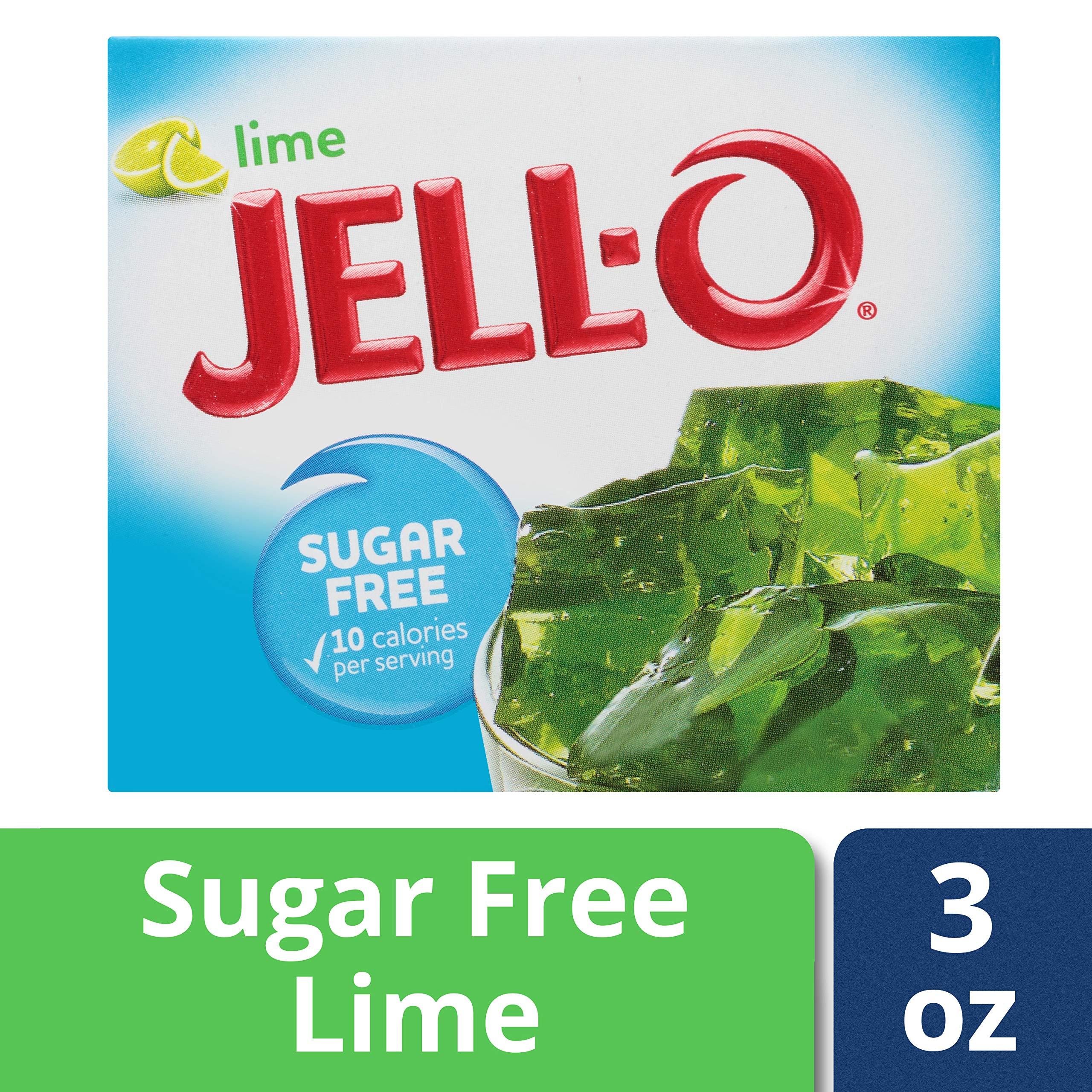 Jell-O Sugar-Free Lime Gelatin Dessert Mix, 0.3 oz Box