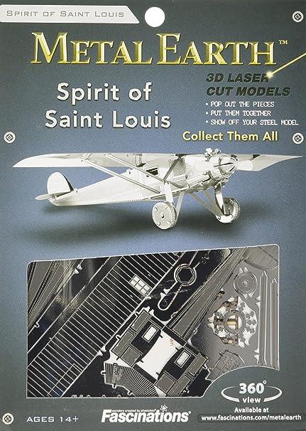 Fascinations Metal Earth Spirit of Saint Louis Airplane 3D Metal Model Kit