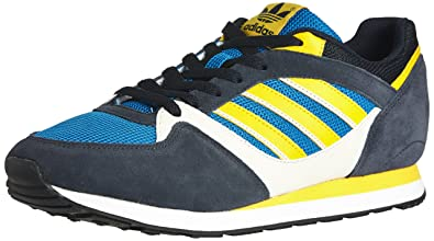 the best attitude b9e82 bac07 adidas Originals Mens ZX 100-0 Trainers D67730 Bluebird Sunshine Bliss 6 UK