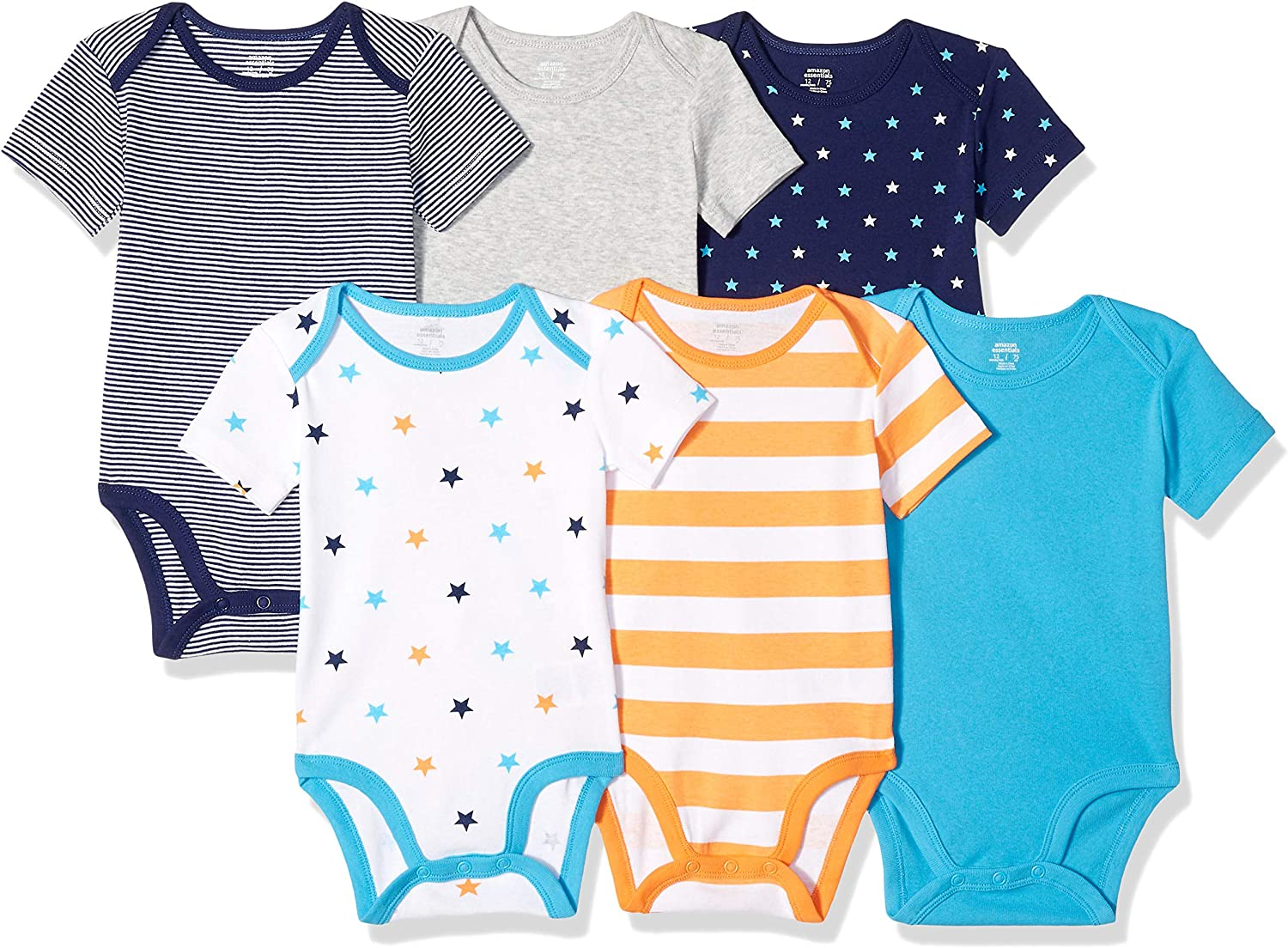 Essentials Baby 6-Pack Short-Sleeve Bodysuit