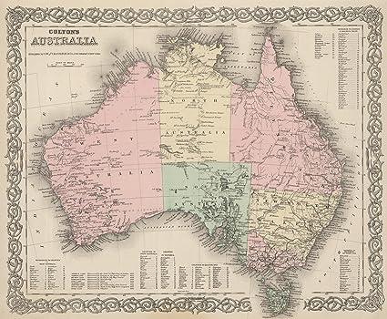 Australia Atlas Map.Amazon Com World Atlas 1886 Australia Historic Antique Vintage