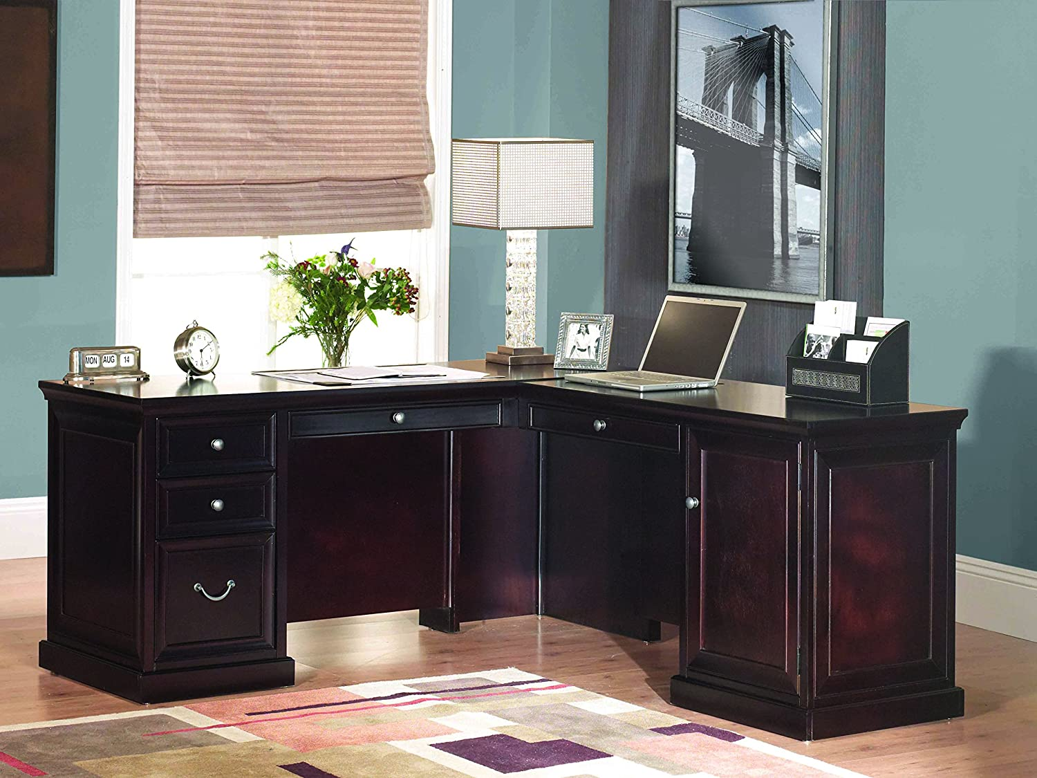 amazon com kathy ireland home by martin fulton 65 l shaped desk