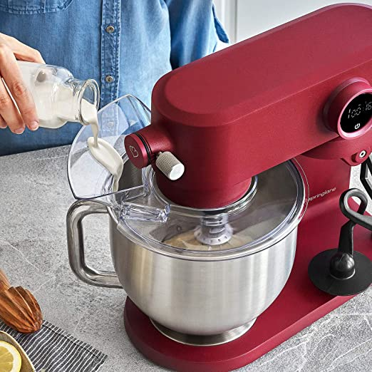 Robot de cocina Batidora Amasadora 800 W con 8 niveles de velocidad y recipiente de 5,2 L Rojo: Amazon.es: Hogar