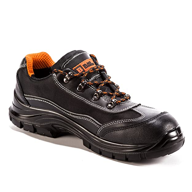 Amazon.com: Mens Safety Boots Steel Toe Cap Work Shoes Ankle Sneakers Trainers Hiker Steel Mid Sole Protection Black: Shoes