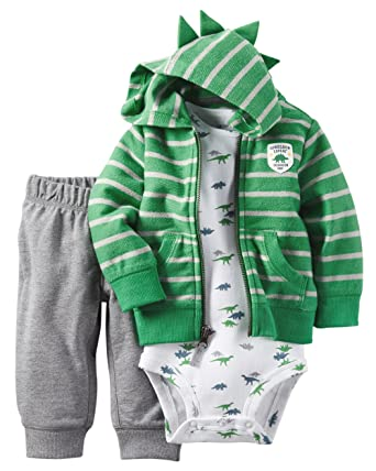 Carters Baby Boys 3-Piece Dino Hoodie Set 3 Months