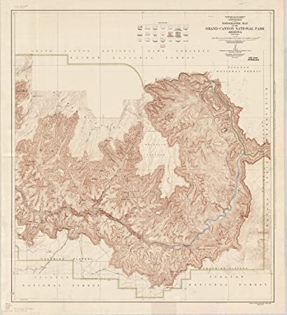 Amazon Com Historic Map Grand Canyon National Park