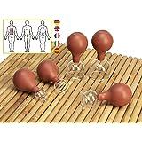 Lunata® 5er Schröpfglas-Set mit Saugball, 13-24-33-38-48 mm, Anti-Cellulite Saugglocke, Massageglas, Schröpfgläser für eine professionelle Schröpfmassage