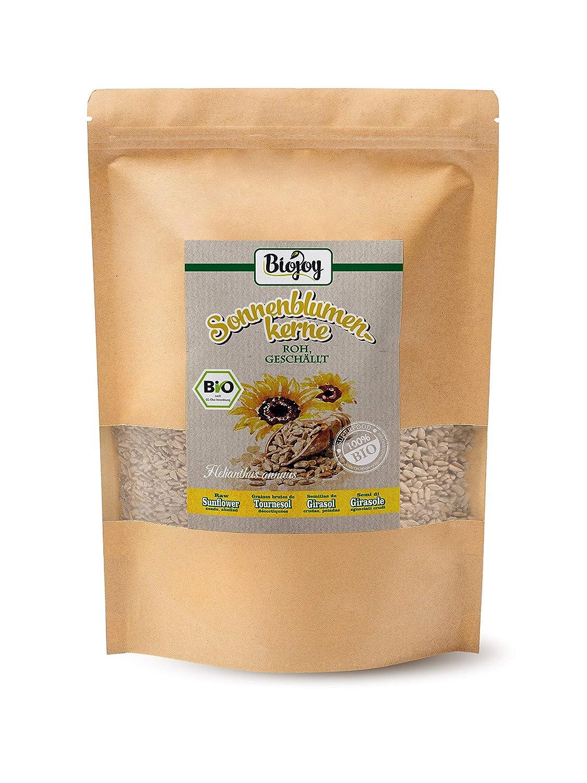 Biojoy Semillas de Girasol orgánicas, peladas, crudas y sin sal (1 ...