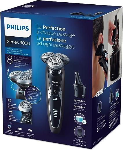 Philips S9551/63 - Afeitadora electrica, uso en seco y humedo, SmartClean, recortador de precision, funda de viaje: Amazon.es: Salud y cuidado personal