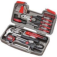 Apollo Tools DT9706 Conjunto de ferramentas manuais de reparo geral original com caixa de ferramentas, vermelho