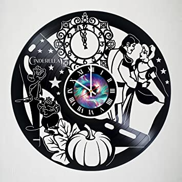 Beauty And The Beast Incredible Vinyl Record Vintage Wall Clock   Beautiful  Unique Living Kitchen Kids