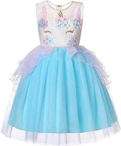 Dance Fairy Molliya Vestido de Tutu Princesa Unicornio Niñas Boda ...
