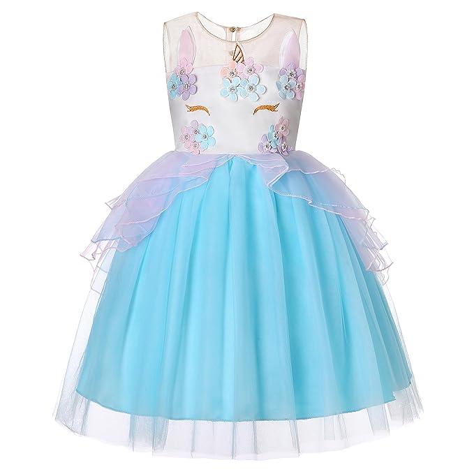 Dance Fairy Molliya Vestido de Tutu Princesa Unicornio Niñas Boda y Fiesta Cosplay Cumpleaños Carnaval Ceremonia