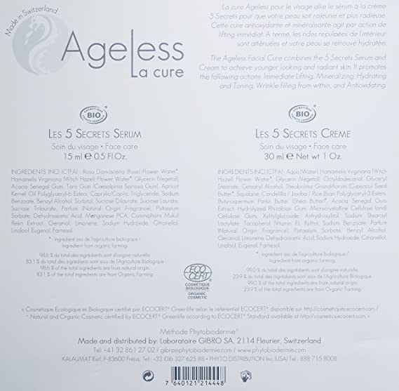 Ageless La Cure Facial Serum and Cream Kit, 1.5 Ounce. Biore Combo Pack Deep Cleansing Pore Strips Face/Nose 14 Each (Pack of 3)