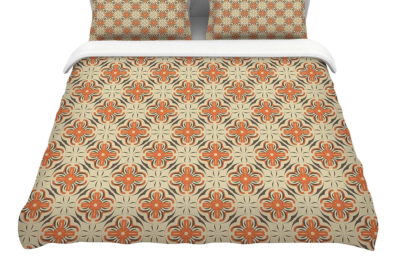 88 x 88, Kess InHouse Mayacoa Studio Geometric Tile Featherweight Queen Duvet Cover