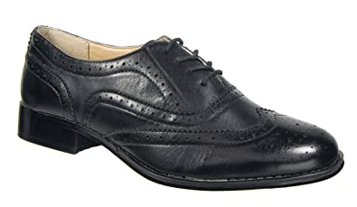 6a06aaa3ea3b1 Womens Ladies Brogue Shoes   Black Laced Boulevard CLEARANCE (4 ...