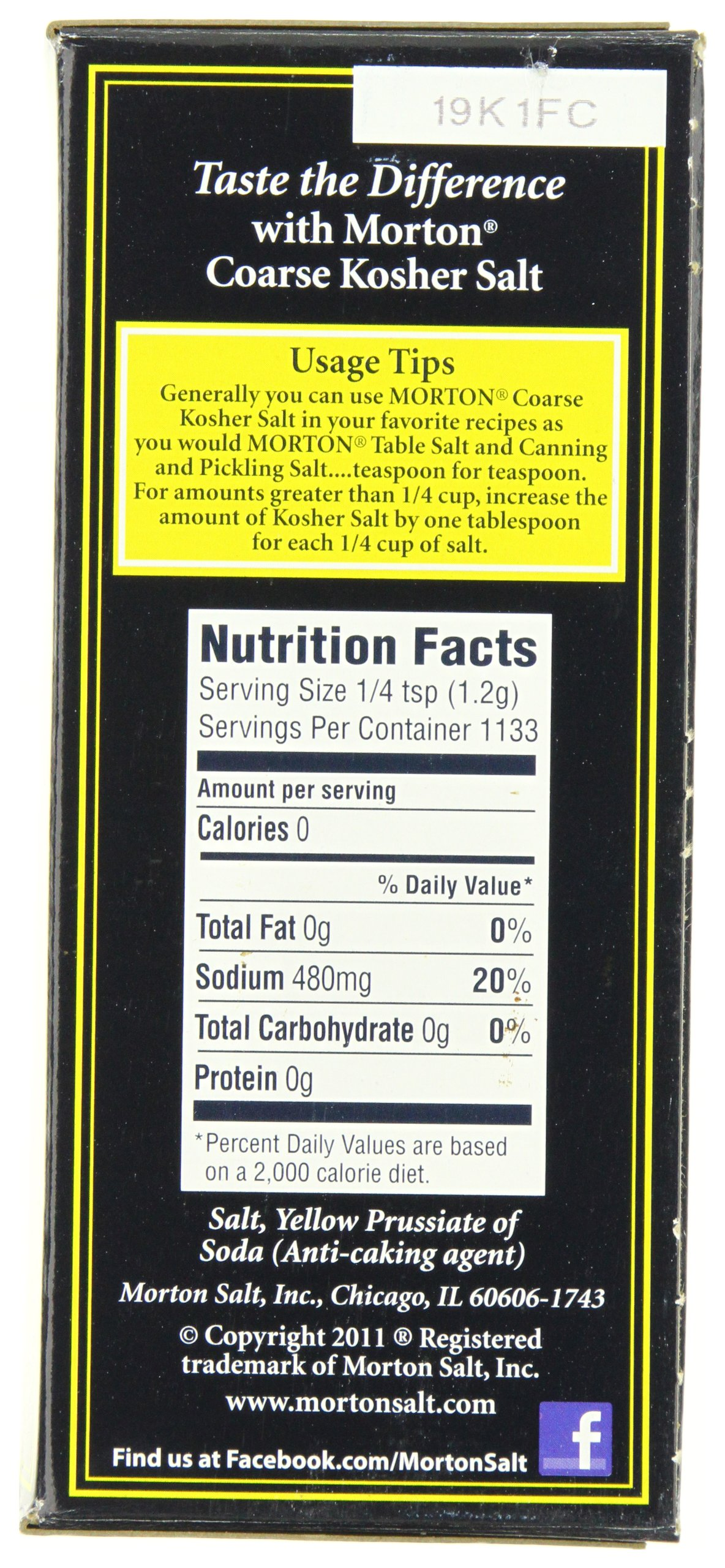 Morton Kosher Salt-Coarse, 3-Pounds (Pack of 12) by Morton (Image #2)