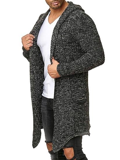 Redbridge Uomo Manica Lunga Cardigan Asimmetrico Oversized Moda Giacca con  Cappuccio  Amazon.it  Abbigliamento a3d747cbcc8