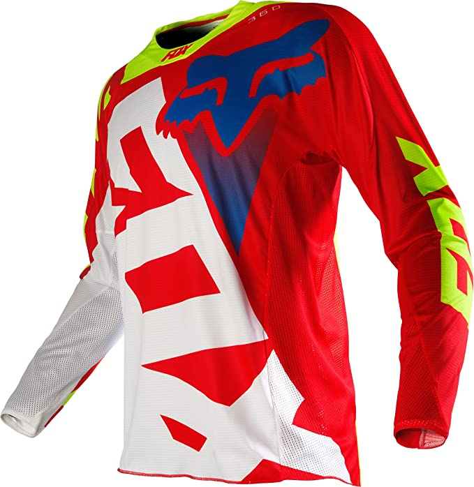 Jersey Mx Fox 2016 360 Shiv Rojo-Blanco (Xxl , Rojo): Amazon ...
