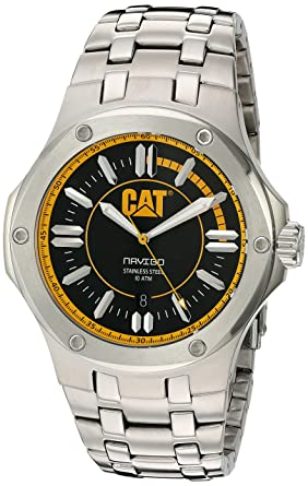 CAT WATCHES Men's 'Navigo' Quartz Stainless Steel Watch, Color:Silver-Toned (Model: A114111127)