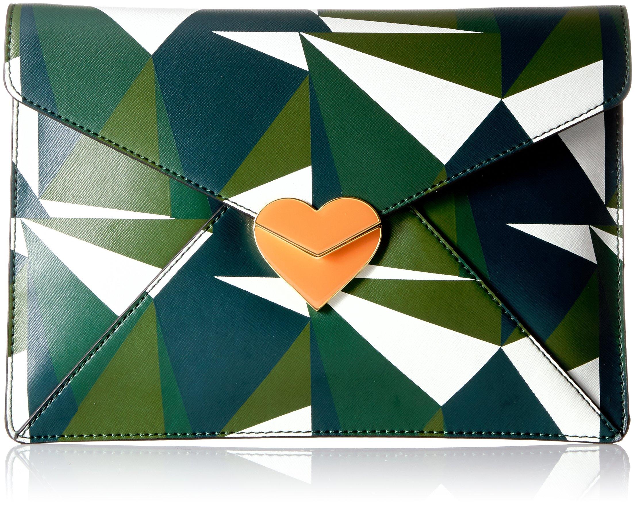 Dear Drew by Drew Barrymore Date Night Clutch- Green Dream Multi