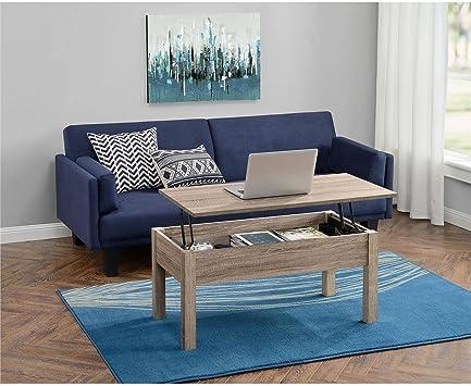 Amazon Com Mainstays Lift Top Coffee Table Sonoma Oak Kitchen