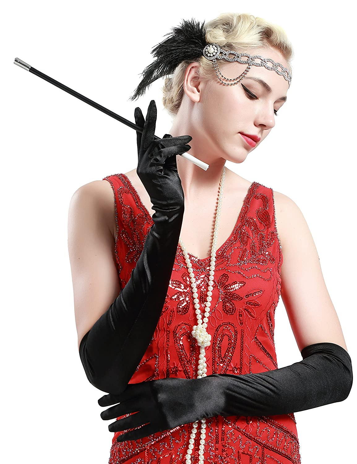 1920s Accessories | Great Gatsby Accessories Guide Plastic Cigarette Holder Costume 1920s Accessory BABEYOND  $7.99 AT vintagedancer.com