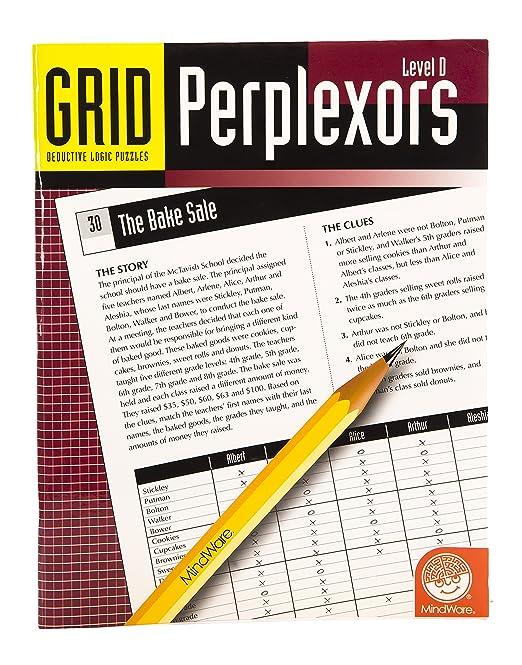Amazon.com: MindWare Grid Perplexors: Level D: mindware online ...