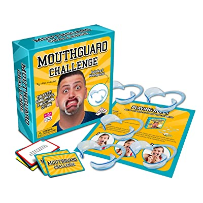 Mouthguard Challenge Game - The Crazy Party Game That's a Mouthful of Fun with Game Cards and More: Toys & Games