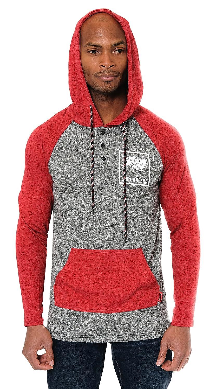 NFL メンズ ヘンリーラグランスタイルフリースフード付きスウェットシャツ チームカラー B01N40YYPD Large|San Francisco 49ers  Large