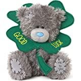 Me To You SG01W4077 5-Inch Tall Tatty Teddy with a Good Luck 4 Leaf Clover Plush Toy