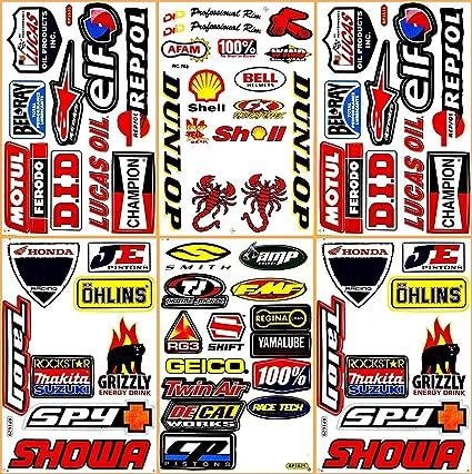 REFLECTIVE Sponsor decals Motorbike MotoX etc Ducati Decals Sticker Set