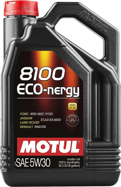 Motul 102898 8100 Eco-nergy 5W-30 100 Percent Synthetic - 5 Liter