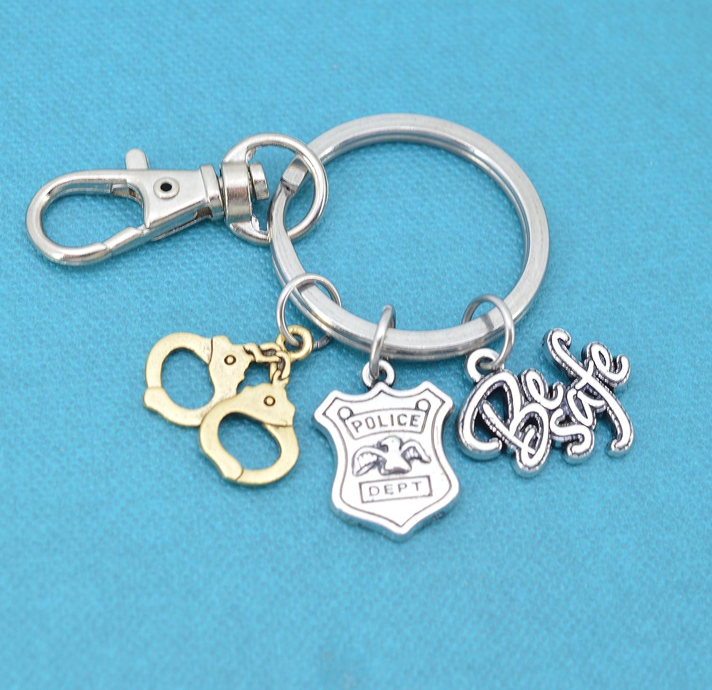 Police Key chainPersonalized Police KeychainPewterPolice Gear
