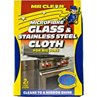 Mr Clean Microfibre Glass and Stainless Steel Cloth, 2ct