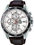 Casio - EFR-546L-7AVUEF - Edifice - Montre Homme - Quartz Analogique - Cadran Blanc - Bracelet Cuir Marron