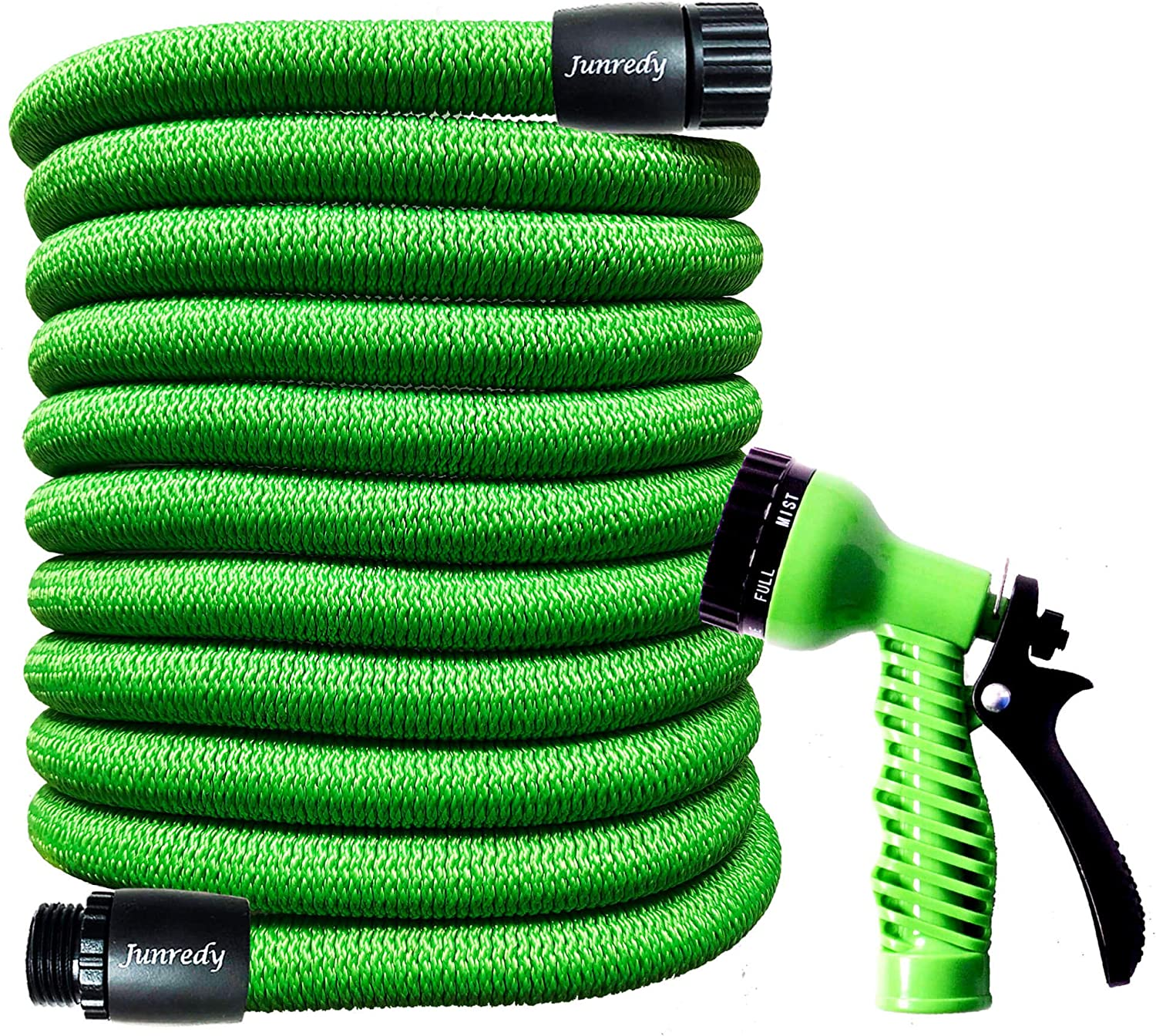 "Junredy 25ft Garden Hose Expandable Water Hose - Durable 3750D Fabric | 3/4"" Connectors with Protectors 