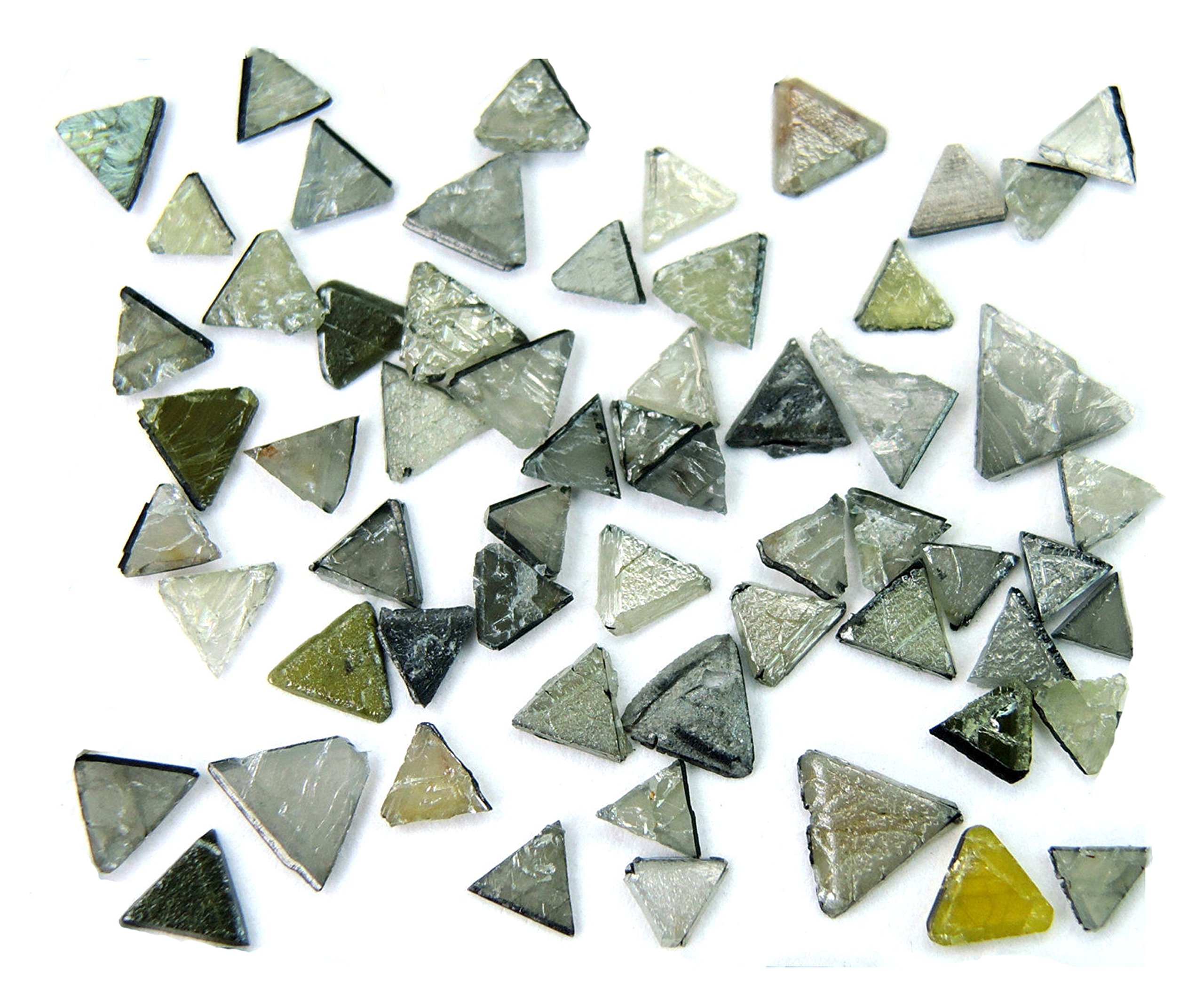 Natural loose Diamond Rough Triangle Flat Uncut Industrial Use Black Gray Color I3 Clarity 5.00 Ct lot Q26