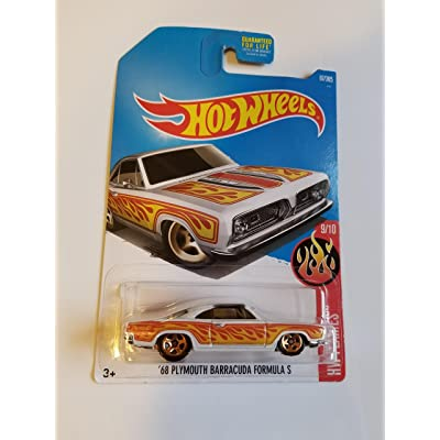 Hot Wheels 2020 HW Flames \'68 Plymouth Barracuda Formula S 87/365, White: Toys & Games [5Bkhe0802818]