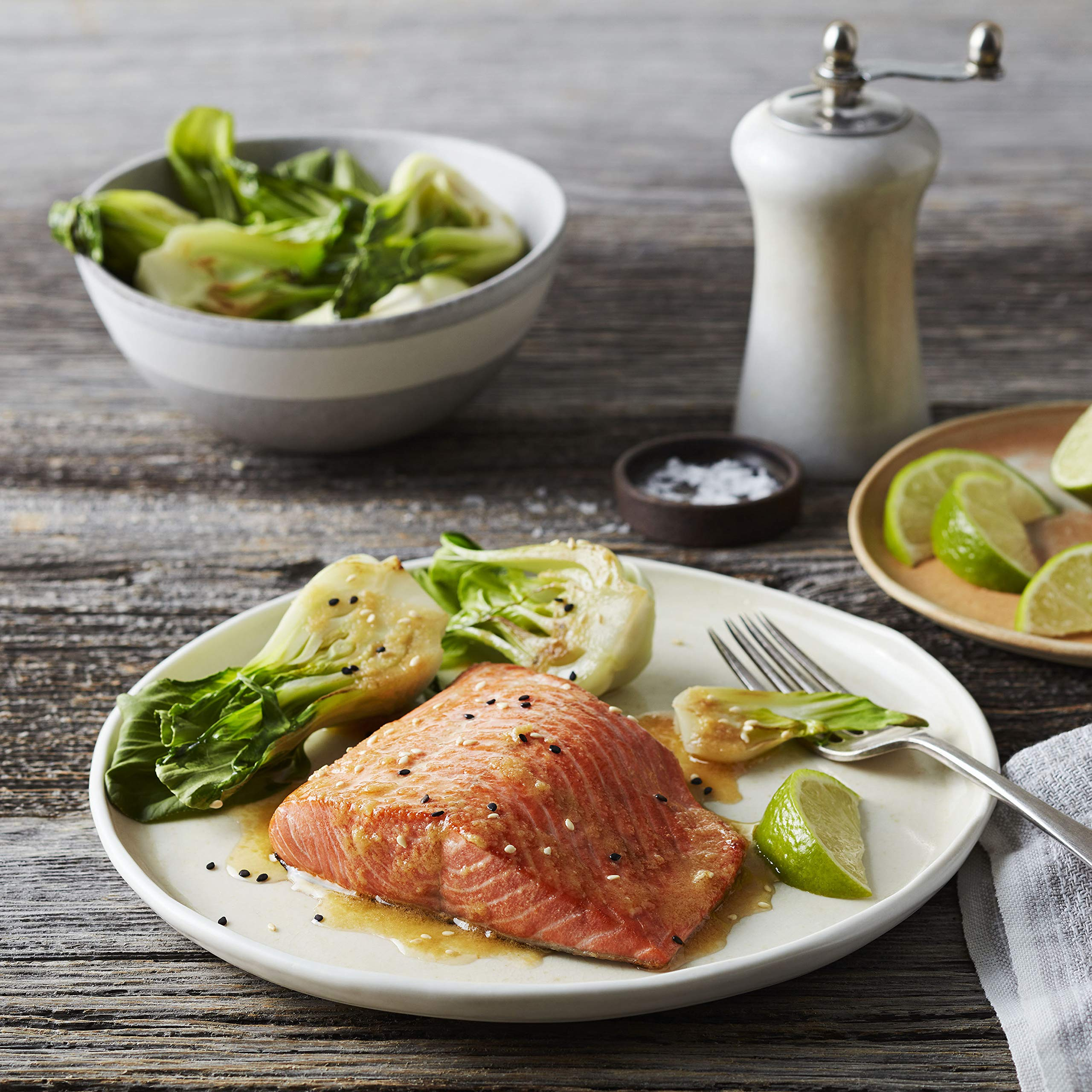 Martha Stewart for True North Seafood: Simple and Easy Sockeye Salmon with Miso Butter and Atlantic Salmon with Lemon Herb Butter - (Pack of 4) 11 oz. Trays by True North Seafood Company (Image #3)