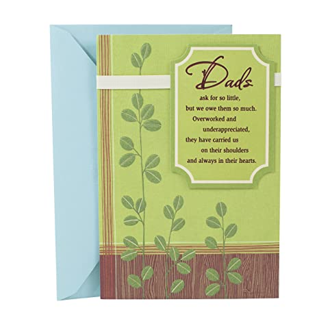 Amazon Hallmark Birthday Greeting Card To Father Loved And