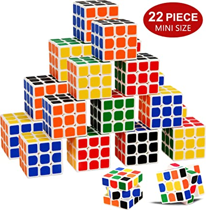 24 Pack Mini Cube 1.37 inch Party Favor Puzzle Gam INTEGEAR Puzzle Party Toy