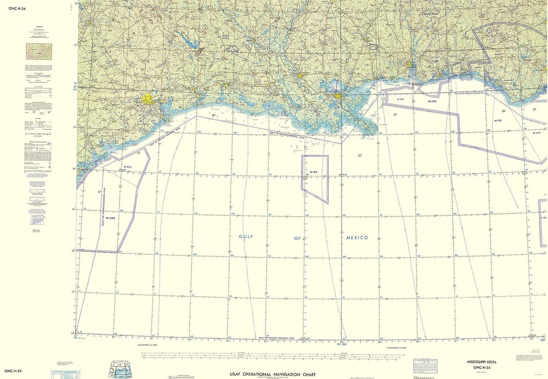 Amazon Com Topographical Map Mississippi Delta Texas Louisiana